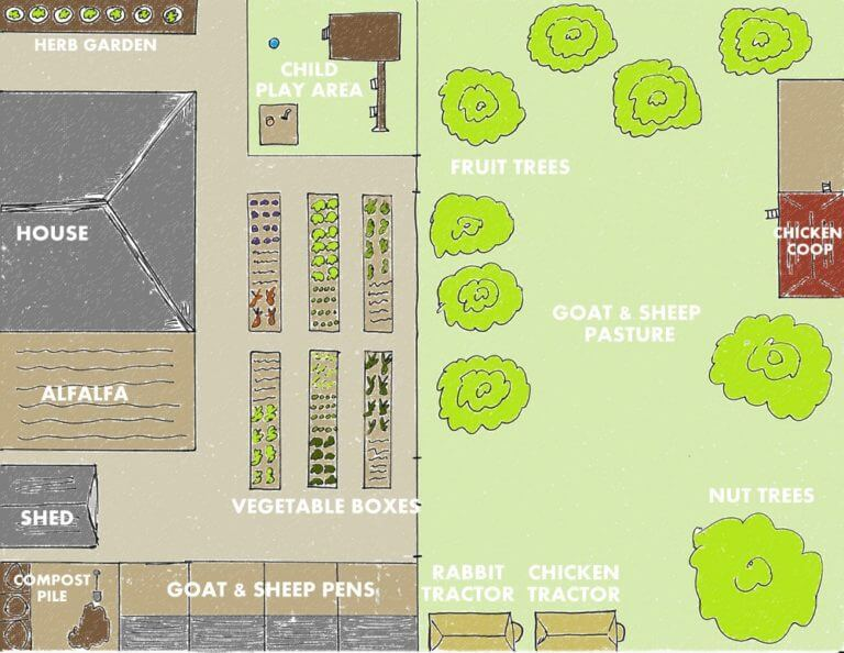 homestead 1\4 acre plan